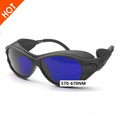 Laser safety glasses for 570-670nm